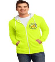 Sadler men's zip up hooded sweatshirt