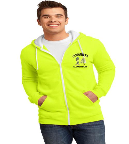 Oceanway men's zip-up hooded sweatshirt