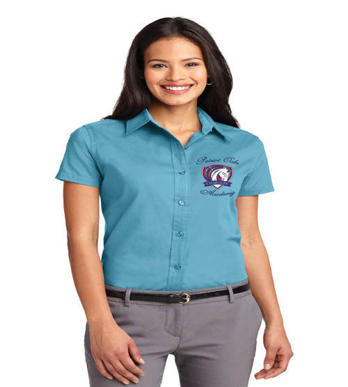 Patriot Oaks ladies short sleeve button up