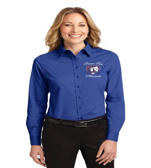 Patriot Oaks ladies long sleeve button up