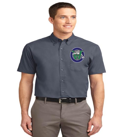 Waterbridge men's short sleeve button up