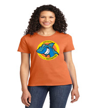 Fla virtual ladies orange short sleeve