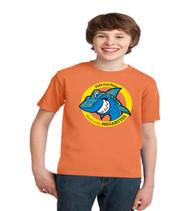 Juniors orange short sleeve