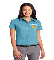 Evans ladies short sleeve button up