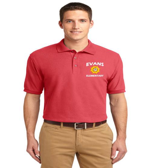 Evans men's basic polo