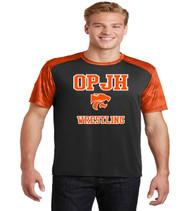 OPJH black/orange dri fit tee
