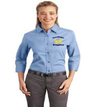 Sunridge Middle Ladies 3/4 sleeve button up