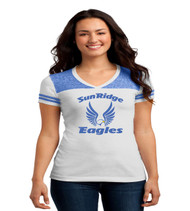 Sunridge middle ladies white varsity jersey tshirt