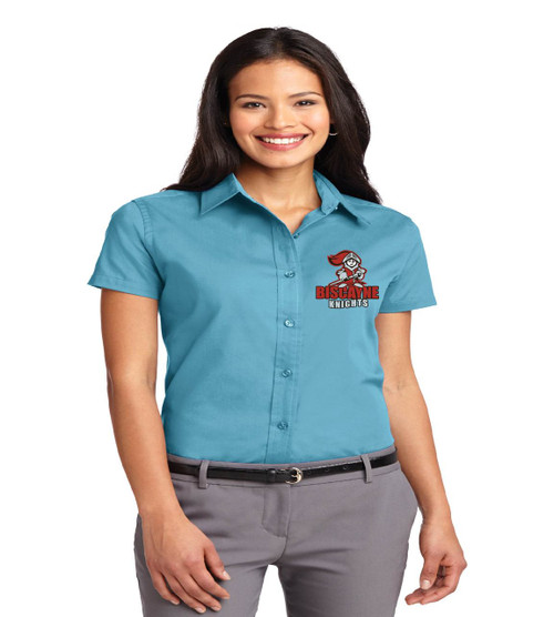 Biscayne ladies short sleeve button up