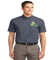 Three Points Men's Short Sleeve Button-up