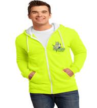 Three Points Men's Zip-Up Hooded Sweatshirt