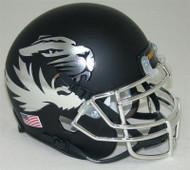 Missouri Tigers Alternate CHROME Matte Black Schutt Mini Authentic Helmet
