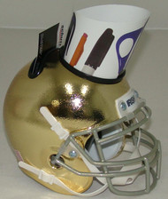 Notre Dame Fighting Irish Alternate Textured Gold Mini Helmet Desk Caddy by Schutt