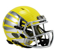 Oregon Ducks LiquidMetal Speed Mini Football Helmet Liquid Lightning HydroSkin Yellow