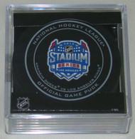 2014 NHL Stadium Series Los Angeles Official Game Puck in Cube - Ducks vs. Kings