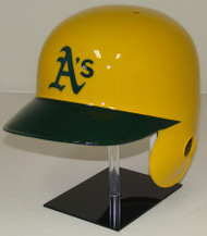 Oakland A's Rawlings Yellow LEC Throwback Full Size Baseball Batting Helmet