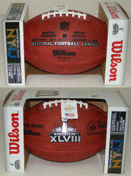 Super Bowl XLVIII 48 Seahawks vs. Broncos Official Leather Authentic Game Football by Wilson