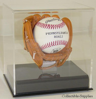 ACRYLIC BASEBALL MINI GLOVE / MITT BALL DISPLAY CASE