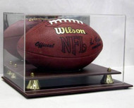 DELUXE FULL SIZE FOOTBALL LEATHER DISPLAY