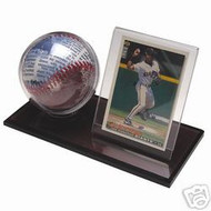 ACRYLIC BASEBALL & CARD DISPLAY CASE