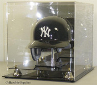 Deluxe Full Size Baseball Helmet Display Case with Stand