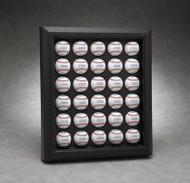 ACRYLIC 30 BASEBALL DISPLAY CASE - WALL MOUNTABLE