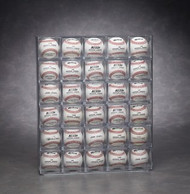 30 Baseball Display Wall Mountable - Front Loading - Holds Baseball Cubes