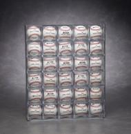 30 Baseball Display Wall Mountable - Front Loading - Holds Baseball Cubes