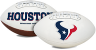 Signature Series NFL Houston Texans Autograph Full Size Football
