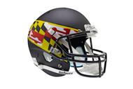 Maryland Terrapins Schutt XP Full Size Replica Helmet - Black with Flag