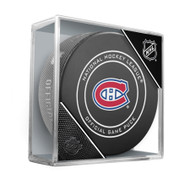 Montreal Canadiens Inglasco Official NHL Game Puck in Cube