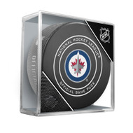 Winnipeg Jets Sherwood Official NHL Game Puck in Cube