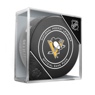 Pittsburgh Penguins Inglasco Official NHL Game Puck in Cube