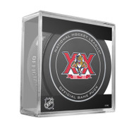 Florida Panthers Special 20th Anniversary (2013-14) Sherwood Official NHL Game Puck in Cube