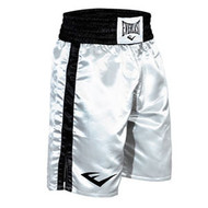 Standard Boxing Trunks - Bottom Of Knee (White) - Large