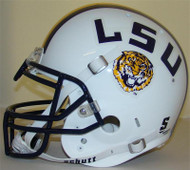 LSU Tigers 1997 White Throwback Schutt Full Size Authentic Helmet