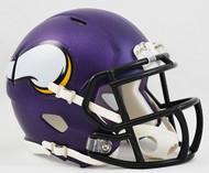 Minnesota Vikings Matte Purple Revolution SPEED Mini Helmet