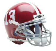 Alabama Crimson Tide #13 Schutt Mini Authentic Helmet