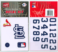 St. Louis Cardinals Batting Helmet Rawlings Decal Kit