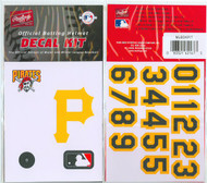 Pittsburgh Pirates Batting Helmet Rawlings Decal Kit
