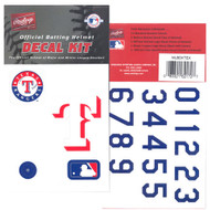 Texas Rangers Batting Helmet Rawlings Decal Kit