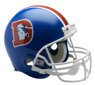 Denver Broncos 1975-96 Throwback Riddell Full Size Authentic Helmet
