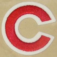 CHICAGO CUBS FULL SIZE HELMET 3M EMBROIDERED STICKER DECAL