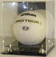 DELUXE VOLLEYBALL DISPLAY with Gold Risers