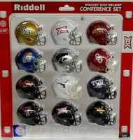 NCAA Big 12 Pocket Pro Speed Revolution Mini Helmets Set by Riddell