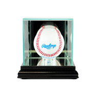 Deluxe Real Glass Single Baseball Display Case