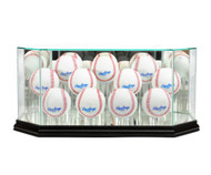 Deluxe Real Glass Eleven Baseball Display Case