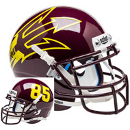 Arizona State Sun Devils Maroon Big Fork Alternate Schutt Mini Authentic Helmet