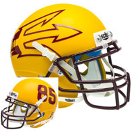 Arizona State Sun Devils Gold Big Fork Alternate Schutt Mini Authentic Helmet