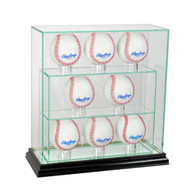 Deluxe Real Glass 8 Baseball UPRIGHT Display Case
